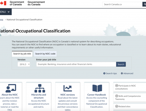 National Occupational Classification (NOC) in Canada in 2021 (Complete list)